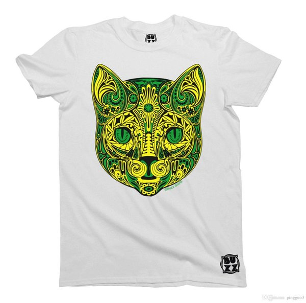 Tribal Flower KITTEN Herren & Damen T-Shirt Unisex T Shirt Men 2017 Fashion Top Tee Tee Shirts Men O-Neck Tees Plus Size