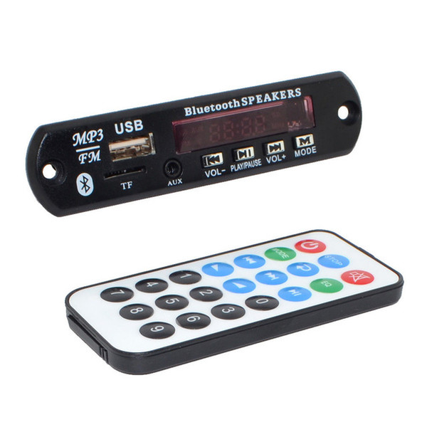 Car DIY Bluetooth V3.0 Car Digital LED 12V MP3 Player Decoder Board Panel Audio Module Support FM Radio USB TF AUX Remote Display