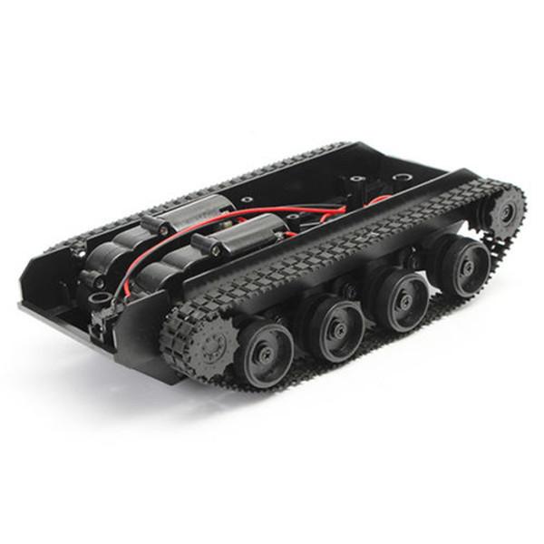3 V-7 V DIY Işık Şok Emdirilmiş Akıllı Tank Robot Şasi Araç Kiti 130 Motor Arduino SCM Için