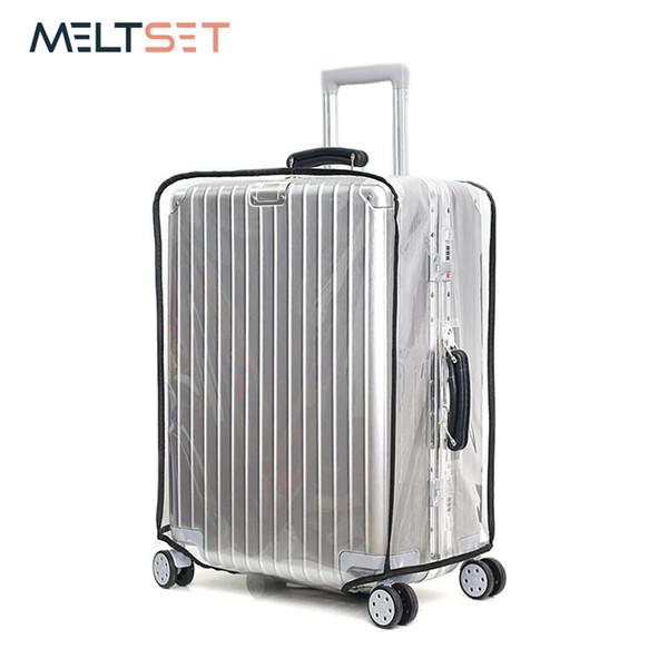 b852222455086 PVC Şeffaf Bagaj Durumda Kapağı Wateproof Toz Geçirmez Seyahat Çantası  Kapağı Temizle Bavul 7 Boyutu 18