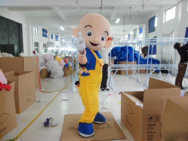 Cute little bald Mascot Costume Adult Character Costume mascot As fashion free shipping