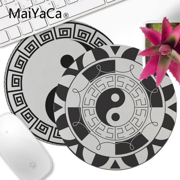 MaiYaCa Tai Ji Yin Yang Mandala Circle Spiritualità Computer portatile Tappetino per mouse Mousepad Decorate la vostra scrivania Non-Skid Tappetino per il mouse in gomma anime