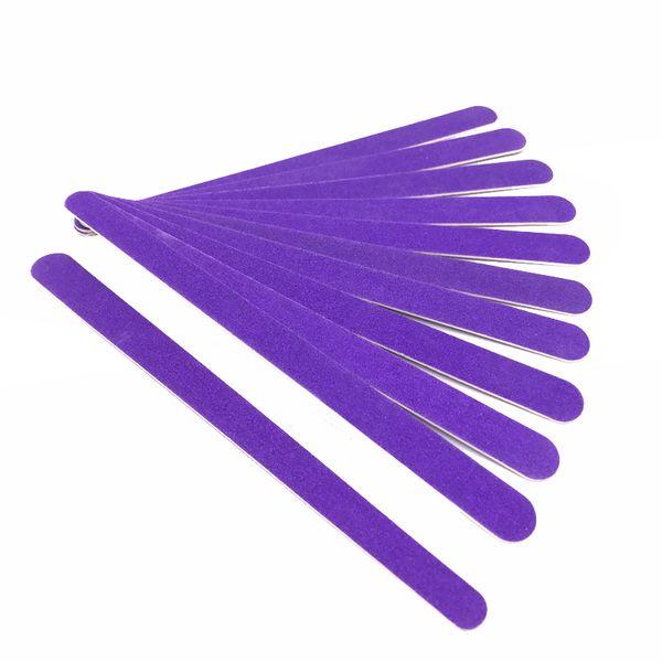 0pcs Nail File Sanding Buffer Block 180/240 Sandpaper Pedicure Manicure Buffing Polish Purple Tools Lime a Ongle Professionel 10pcs Nail ...
