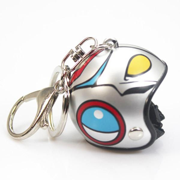 Yaratıcı Sevimli Motosiklet Kask Anahtarlık Moto Hediyeler Kolye Anahtarlık Kolye Klasik Anahtarlık Araba Aksesuarları