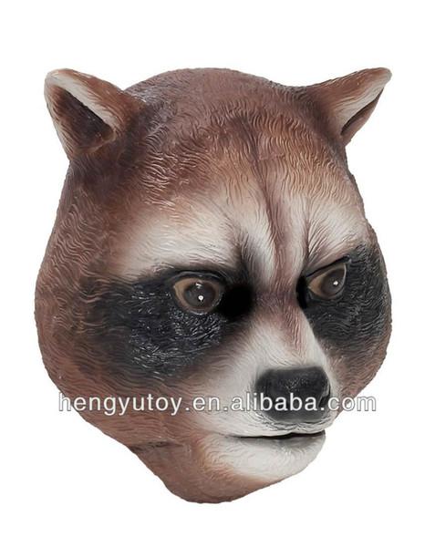 Heißer Verkauf Realistische Tierkopf Karnevalsparty Latex Waschbär Maske für Cosplay