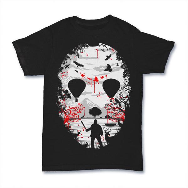 CRYSTAL LAKE MASK JASON FREDDIE KILLER FILM mashup ship dtg mens t shirt tees 2018 New Short Sleeve Casual T-Shirt Tee