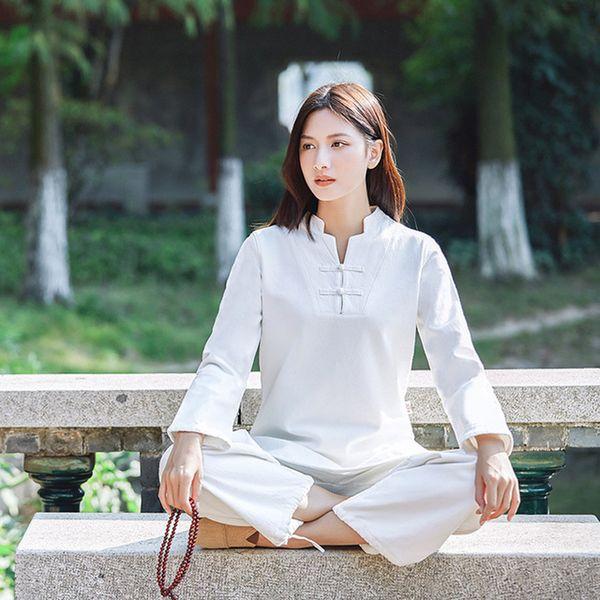 Winter Tracksuit For Women Gym Cotton Sport Yoga Suit Shirt Pants Yoga Set Meditation Clothing Woman Sportswear Fitness Set