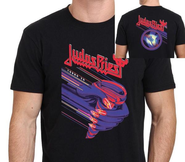 2018 Verano Nueva camiseta Hip Hop Casual Fitness Cuello redondo Manga corta Mejor amigo Hombre Judas Priest Tamaño: S-M-L-Xl-Xxl-3Xl