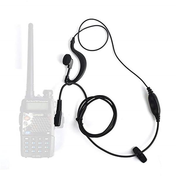 C024 2-poliges PTT-Headset mit Mikrofon für zwei Walkie-Talkies QUANSHENG-Modus PUXING WOUXUN tyt BAOFENG UV5R 888S