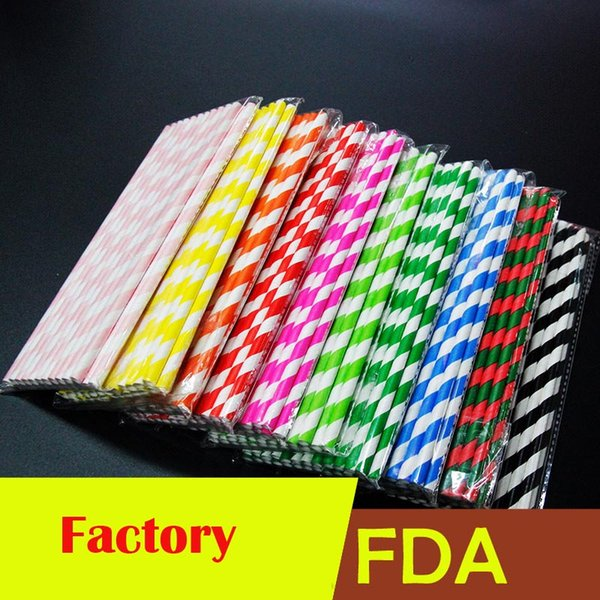 High quality Colorful drink paper straws strip drink paper colored biodegradable paper Eco-friendly Drinking Straws Epack fast shipping