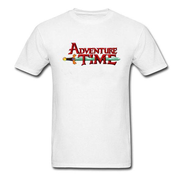 2018 Coupon Gift Simple T Shirt Men's Good Quality O Neck Colorfast Cotton Clothes Sweatshirt Adventure Time Sword T-Shirt Boy