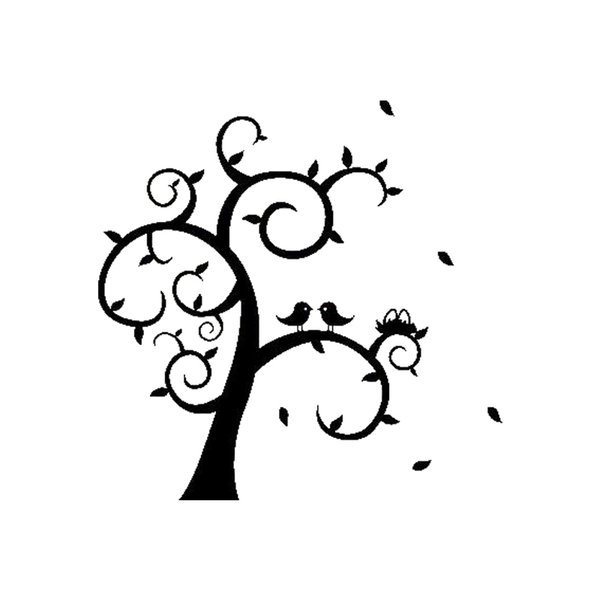 Love Birds On Tree Wall Sticker Home Decal Style Cute Interesting Fashion Sticker Decals