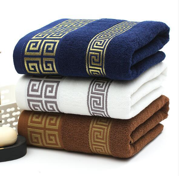 Toallas de baño de algodón suave Baño grande absorbente Toalla de algodón Toalla de algodón Baño del hogar Hotel para adultos Niños