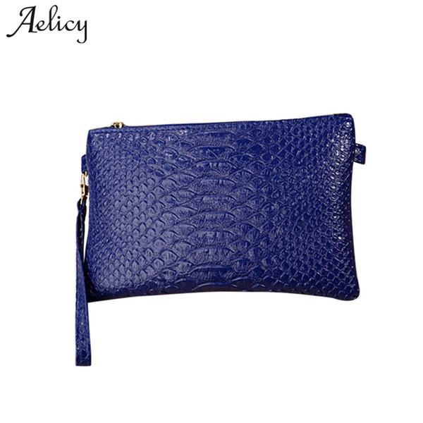 Aelicy Luxury Pu Leather Day Clutches New Design Zipper Messenger Bag Women Handbag Cross Body Soft Mini Bag Female Leather
