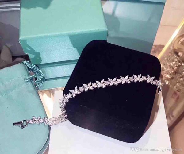 2018 yeni varış S925 Gümüş lüks kadın bilezik X ile diamonds ve damga logosu charm takı noel hediyesi ücretsiz kargo P