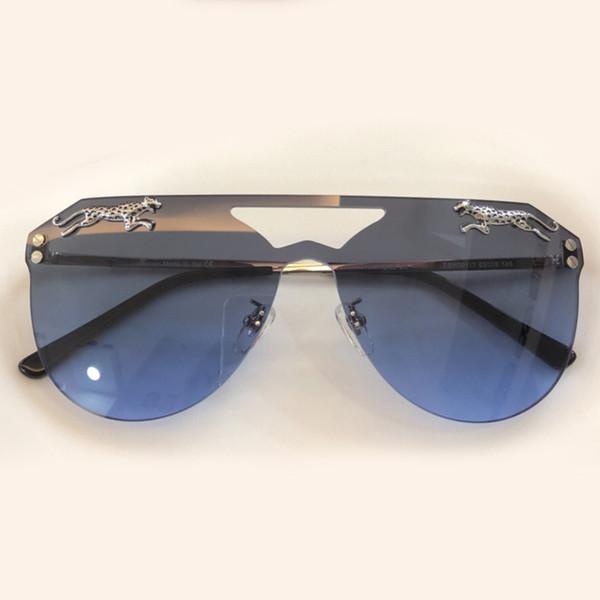 b6585d7adb9 Panther Patchwork Rimless Sunglasses Women Brand Designer Butterfly Sunglass  Female Sun Glasses For Women Lady Sunglass Gradient Oculos