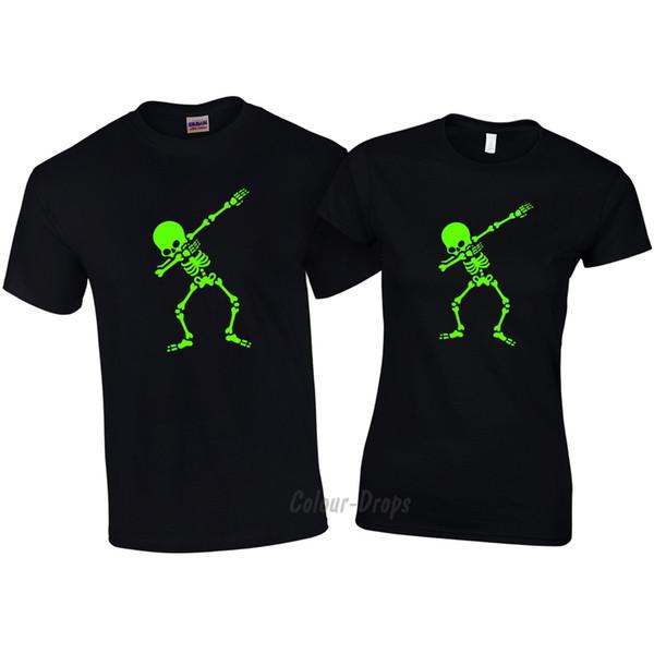 Details zu Kids Boys Girls Dabbing Skeleton Halloween Scary Dab T-shirts Green print. Funny free shipping Unisex tee