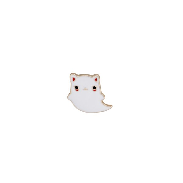 2018 new trendy cartoon cat brooch, environmental protection alloy oil-dripping corsage badge