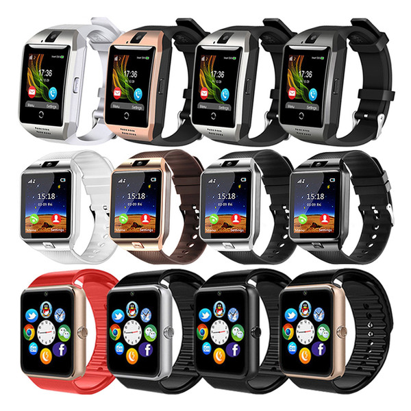 Q18 GT08 DZ09 Smartwatch Bluetooth Smart Watches Support SIM TF Card With HD Camera For iOS iPhone Samsung Android Smartphone