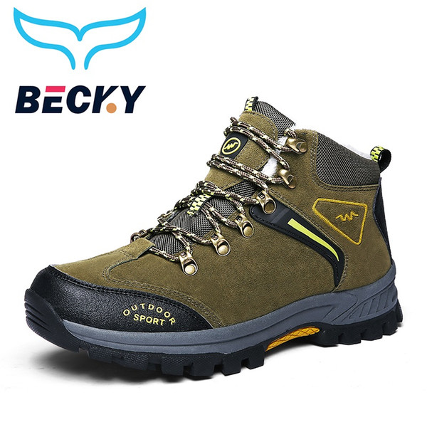 Hiking Shoes Men Winter Outdoor Sport Sneakers waterproof snow Boots Trekking Mountain excursion Climbing Shoes high quality