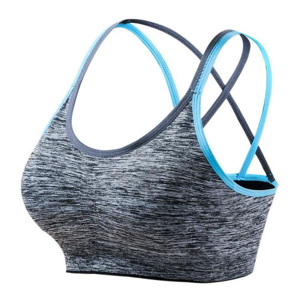 Soutiens-gorge rembourrés amovibles pour femme. Support de maintien moyen. Soutien-gorge de yoga.