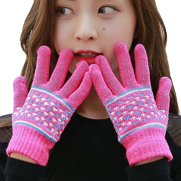 300PAIRS / LOT Women Fashion Winter Hand Warmer Driving Gloves Female Ladies Casual Five Finger Mittens Gloves