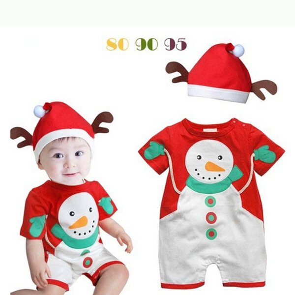 Christmas Baby Rompers Costumes For Boys Santa Claus Baby Outfits Baby Girl Clothes Newborn New Year Jumpsuit Wear Overalls Y18102907