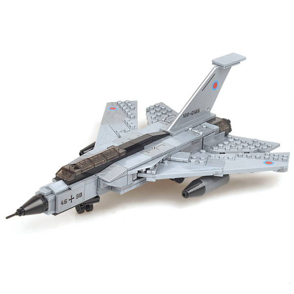 Assembled building blocks military series children's puzzle toys boys assembling building blocks gale fighter gift toys
