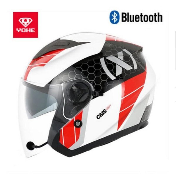 2018 Summer New YOHE Knight Safety Bluetooth Helmets Half Face Motorcycle Helmet YH868A Double lens Motorbike Helmet of ABS PC