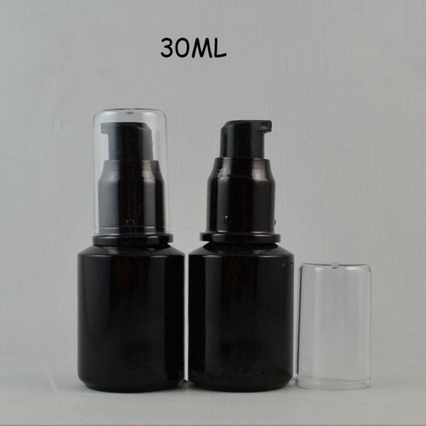 30ml black green frosted Glass lotion bottle with plastic lotion pump,cosmetic packing,cosmetic bottle for liquid F800