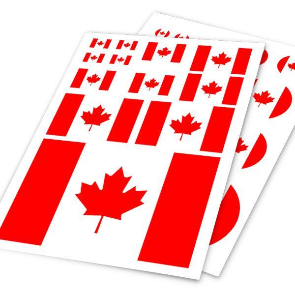 A4 Sheet Canada Flag Colored Print Car Styling Hellaflush Sticker Auto Motorcycle Bike Laptop Skateboard Ipad Phone DIY Decals