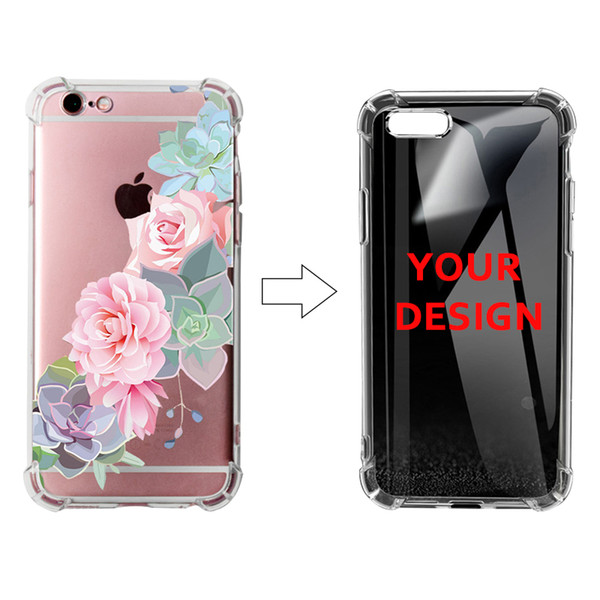 Anti-Knock Case Customized Your Own Picture For iPhone XS XS Plus UV Colorful Printing Clear Soft TPU Full Protective Dropproof Phone Case