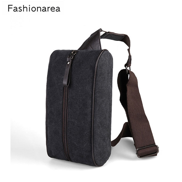 Fashion Man Cross Body Shoulder Bag Small Cell Phone Canvas Wide Strap Sling Messenger Bags Male Chest Pack Women's Chest Bags