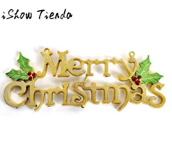 20cm Christmas Tree Decoration Shiny Merry Letter Card for Xmas Hanging Ornament Adornos De Navidad