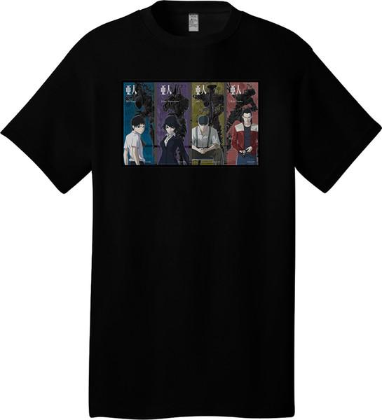 Ajin The Movie Part 1 Shoudou 1 Men T Shirt 2018 New Short Sleeve Men T Shirt 100% Cotton Family Top Tee summer Hot Sale New Tee Print