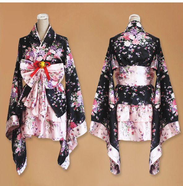 short anime cosplay japanese kimono lolita red woman child sexy gothic halloween costumes for women dress plus size