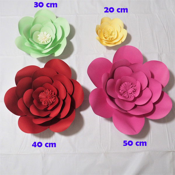 Giant Paper Flowers Artificial Rose Diy Large Paper Rose Wedding Event Backdrop Baby Nursery With Video Tutorials Canada 2019 From