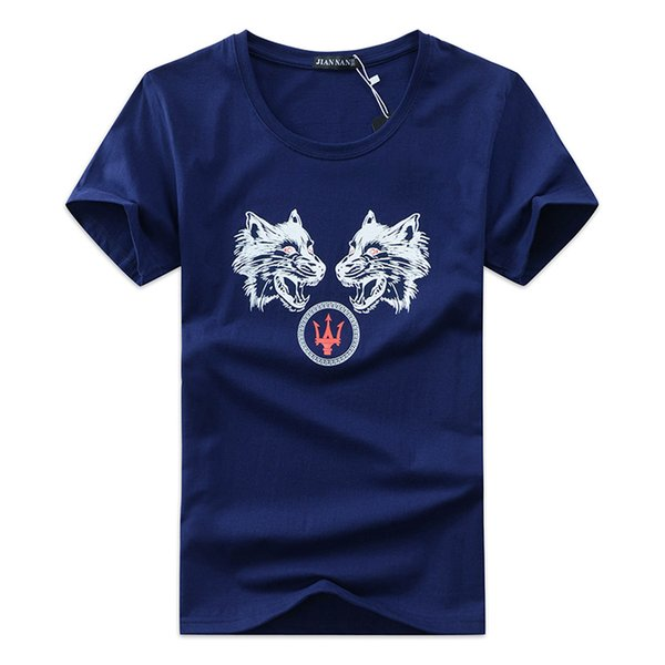 Mens T Shirts Fashion 2018 Summer Casual Patchwork printing Shirt Men Slim Fit Mens T-shirt Plus Size S-5XL Free Shipping