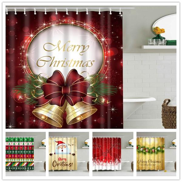 top popular Snowman Waterproof Shower Curtain 180*180cm Polyester Sleepy Snowman Pattern Bathroom Shower Curtains Christmas Bath Curtain 94designs 2019