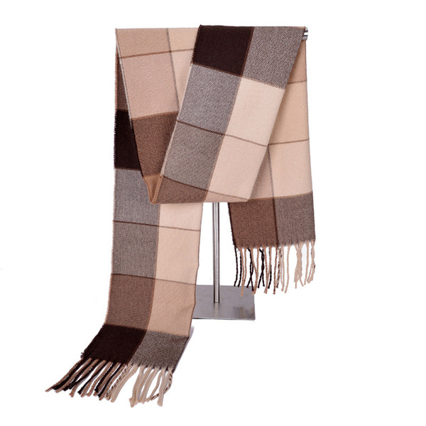 New Autumn Winter Scarves Fashionable Lattice Shawl Collar Dual Purpose Warm Towel Men Women Scarf 6 5ps gg