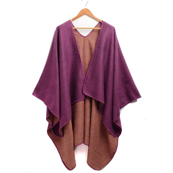 2a2e24a464ba41 Frauen Ponchos und Capes Mode Design Damen Strick Schal Cape Vintage Decke  Winter Schal
