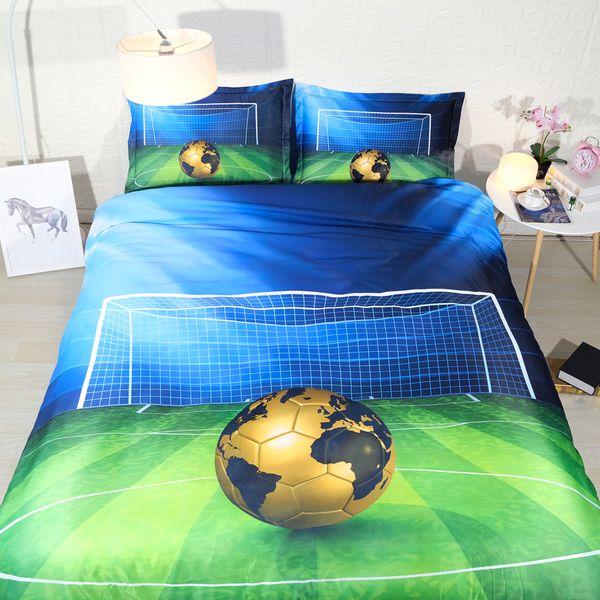 Grosshandel 3 Stucke Sport Bettwasche Fur Jungen Teens Galaxy Basketball Fussball Bettwasche Volle Einzelne Bettbezug Set King Size Blatter Kinder Von