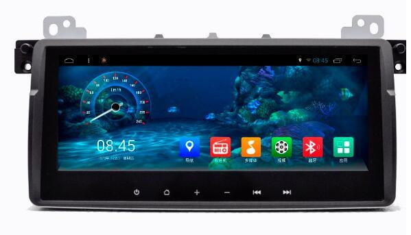 8.8 pollici Android 6.0 Car Dvd Gps Navi Audio per BMW E46 2004 1024 * 600 OBD1GB Wifi 3G supporto Volante originale
