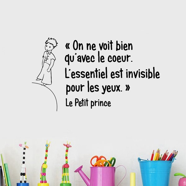 French The Little Prince Quotes Vinyl Wall Sticker For Living Room Children  Boys Room Bedroom Home Decoration Decoration Stickers For Walls Decoration  ...