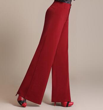 d1af392b21fa50 Plus Size 6XL Womens Office Pants OL Designer Ladies Black Red Wide Leg Pants  Womens Loose