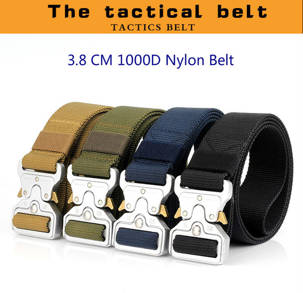 2018 New High Quality Fashion Cheap 1000 D True Army Nylon Outdoor Tactical Duty Training Waist Belt with Quick Release Cobra Alloy Buckle