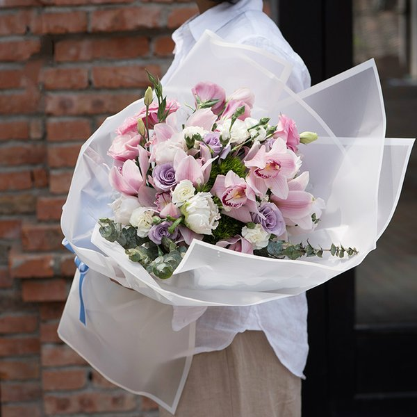 200pcs Translucent Flower Wrapping Paper Florist Bouquet Floral Wrap Paper Wedding Valentines' Day Gift Decoration Free shipping