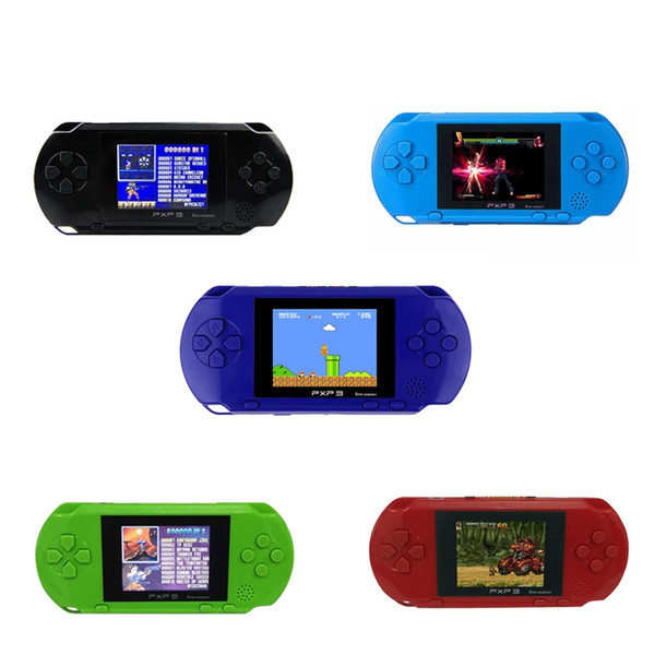 16 Bit Handheld Game Console Portable Video Game Player Retro PXP3 2.7 Inch Mini Pocket Gaming Console Best Xmas Gift for Kids Free Shipping