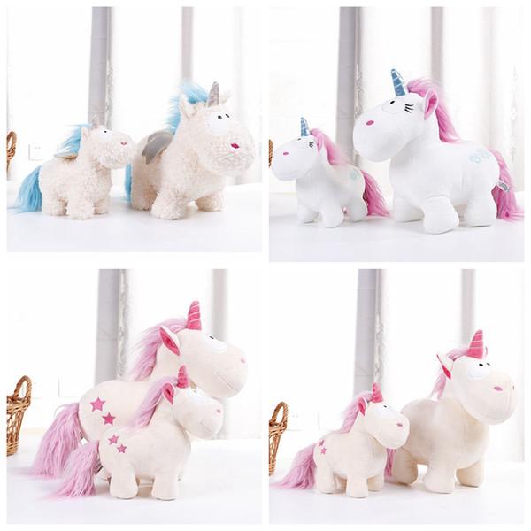 22CM 33CM Unicorn Stuffed Doll Animal Pink Horse Plush Stuffed Fluffy Cute Figures Christmas Gifts Girls Kids Toys Novelty Items AAA1131