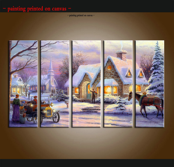 2019 Large Modern Giclee Print Art Thomas Kinkade Landscape Oil Painting Canvas Wall Home Decor Painting Picture Living Room Decor Tms023 From